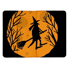 Halloween witch - orange moon Kindle Fire (1st Gen) Flip Case