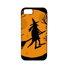 Halloween witch - orange moon Apple iPhone 5 Classic Hardshell Case (PC+Silicone)