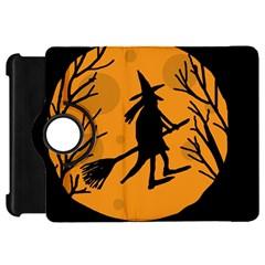 Halloween witch - orange moon Kindle Fire HD Flip 360 Case