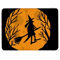 Halloween witch - orange moon Samsung Galaxy Tab 7  P1000 Flip Case