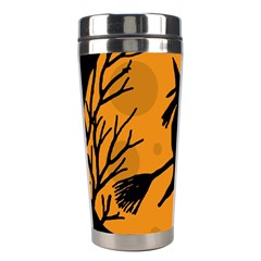 Halloween witch - orange moon Stainless Steel Travel Tumblers