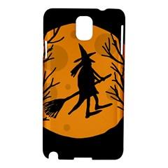 Halloween witch - orange moon Samsung Galaxy Note 3 N9005 Hardshell Case