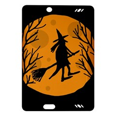Halloween witch - orange moon Amazon Kindle Fire HD (2013) Hardshell Case