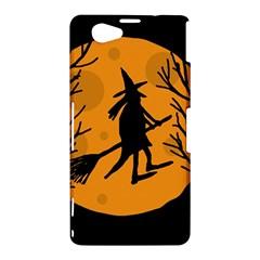 Halloween witch - orange moon Sony Xperia Z1 Compact