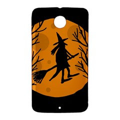 Halloween witch - orange moon Nexus 6 Case (White)