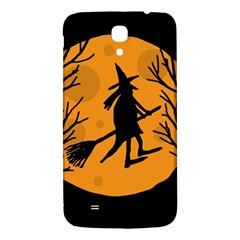Halloween witch - orange moon Samsung Galaxy Mega I9200 Hardshell Back Case