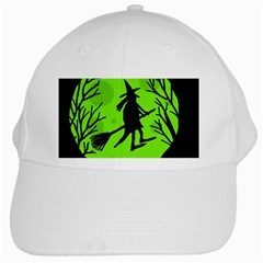 Halloween witch - green moon White Cap