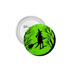 Halloween witch - green moon 1.75  Buttons