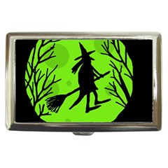 Halloween witch - green moon Cigarette Money Cases