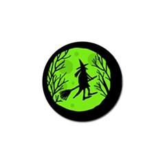 Halloween witch - green moon Golf Ball Marker (4 pack)