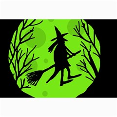 Halloween witch - green moon Collage Prints