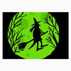Halloween witch - green moon Large Glasses Cloth (2-Side)