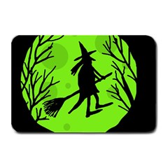 Halloween witch - green moon Plate Mats