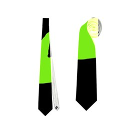 Halloween witch - green moon Neckties (Two Side)