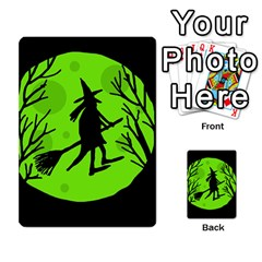 Halloween witch - green moon Multi-purpose Cards (Rectangle)