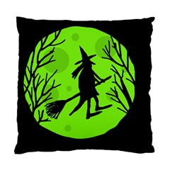 Halloween witch - green moon Standard Cushion Case (Two Sides)