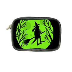 Halloween witch - green moon Coin Purse