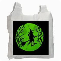 Halloween witch - green moon Recycle Bag (Two Side)