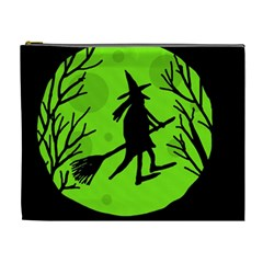 Halloween witch - green moon Cosmetic Bag (XL)