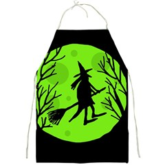 Halloween witch - green moon Full Print Aprons