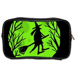 Halloween witch - green moon Toiletries Bags 2-Side