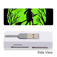Halloween witch - green moon Memory Card Reader (Stick)