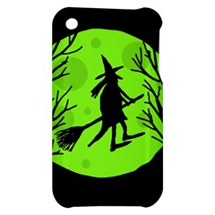 Halloween witch - green moon Apple iPhone 3G/3GS Hardshell Case