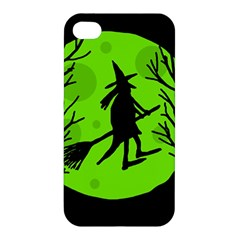 Halloween witch - green moon Apple iPhone 4/4S Hardshell Case