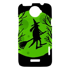 Halloween witch - green moon HTC One X Hardshell Case