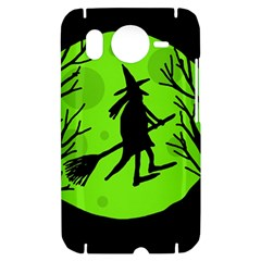 Halloween witch - green moon HTC Desire HD Hardshell Case