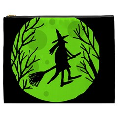 Halloween witch - green moon Cosmetic Bag (XXXL)