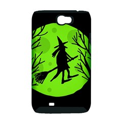 Halloween witch - green moon Samsung Galaxy Note 2 Hardshell Case (PC+Silicone)
