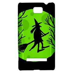 Halloween witch - green moon HTC 8S Hardshell Case