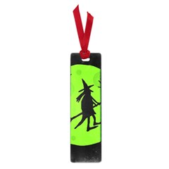 Halloween witch - green moon Small Book Marks