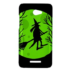Halloween witch - green moon HTC Butterfly X920E Hardshell Case