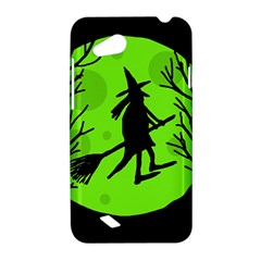 Halloween witch - green moon HTC Desire VC (T328D) Hardshell Case