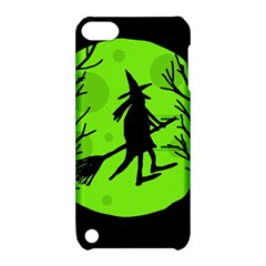 Halloween witch - green moon Apple iPod Touch 5 Hardshell Case with Stand