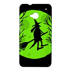 Halloween witch - green moon HTC One M7 Hardshell Case