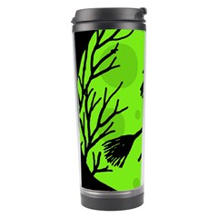 Halloween witch - green moon Travel Tumbler