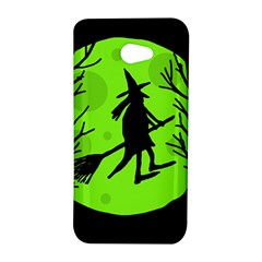 Halloween witch - green moon HTC Butterfly S/HTC 9060 Hardshell Case