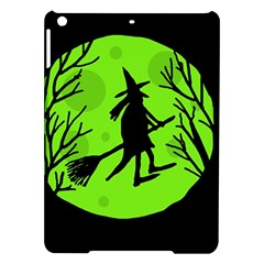 Halloween witch - green moon iPad Air Hardshell Cases