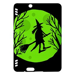 Halloween witch - green moon Kindle Fire HDX Hardshell Case