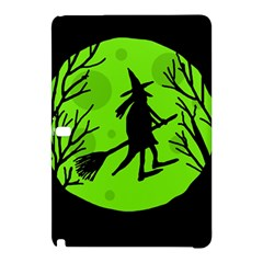 Halloween witch - green moon Samsung Galaxy Tab Pro 12.2 Hardshell Case