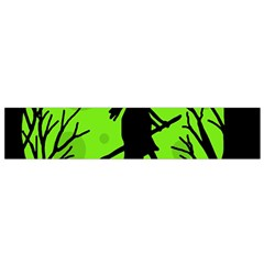 Halloween witch - green moon Flano Scarf (Small)