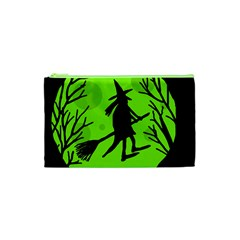 Halloween witch - green moon Cosmetic Bag (XS)