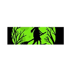 Halloween witch - green moon Satin Scarf (Oblong)