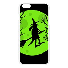 Halloween witch - green moon Apple Seamless iPhone 6 Plus/6S Plus Case (Transparent)