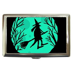 Halloween witch - cyan moon Cigarette Money Cases