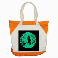 Halloween witch - cyan moon Accent Tote Bag