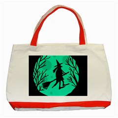 Halloween witch - cyan moon Classic Tote Bag (Red)
